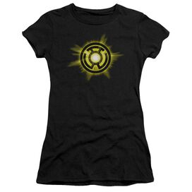 Green Lantern Yellow Glow Short Sleeve Junior Sheer T-Shirt