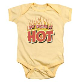 My Mom Is Hot Infant Snapsuit Banana Md