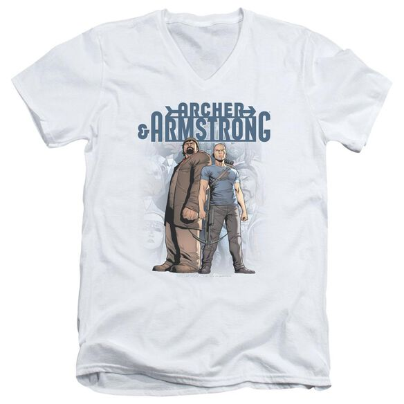 Archer & Armstrong Two Against All Short Sleeve Adult V Neck T-Shirt