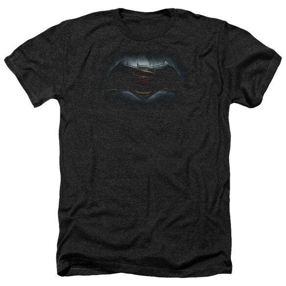 Batman V Superman Logo Adult Heather