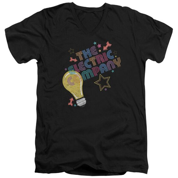Electric Company Electric Light Short Sleeve Adult V Neck T-Shirt