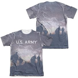 Army Up Hill (Front Back Print) Adult Poly Cotton Short Sleeve Tee T-Shirt