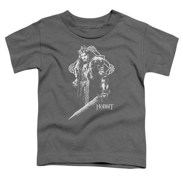 Hobbit King Thorin Short Sleeve Toddler Tee Charcoal T-Shirt