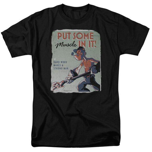 Popeye Hard Work Short Sleeve Adult T-Shirt