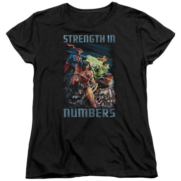 Jla Strength In Number Short Sleeve Womens Tee T-Shirt