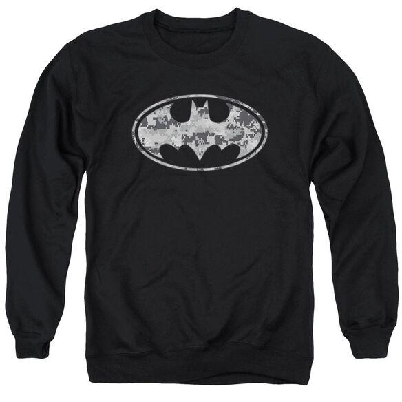 Batman Urban Camo Shield - Adult Crewneck Sweatshirt - Black