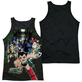 Astro Boy Group Adult Poly Tank Top Black Back