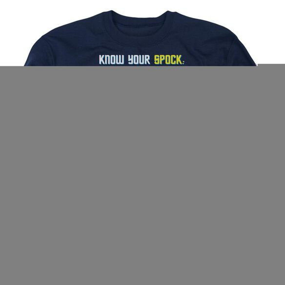 St Original Know Your Spock - Adult Crewneck Sweatshirt - Navy