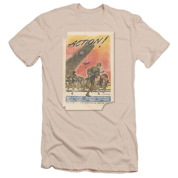Army Action Poster Short Sleeve Adult T-Shirt