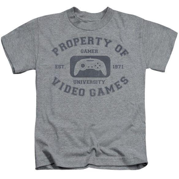 Gamer University Short Sleeve Juvenile Athletic Heather T-Shirt