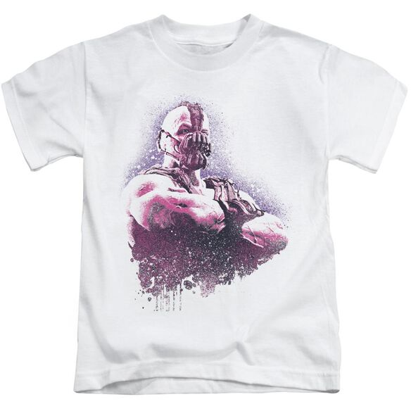Dark Knight Rises Spray Bane Short Sleeve Juvenile White T-Shirt