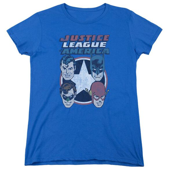 Dco 4 Stars Short Sleeve Womens Tee Royal T-Shirt