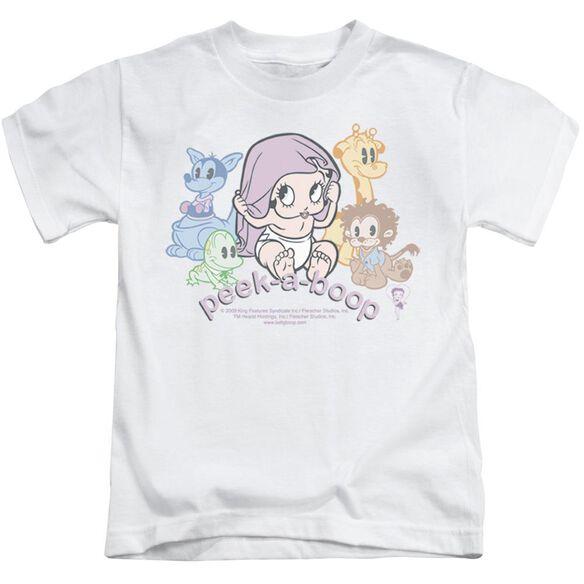 Betty Boop Peek A Boo Short Sleeve Juvenile White T-Shirt
