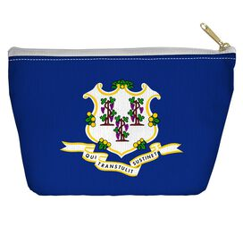 Connecticut Flag Accessory Pouch
