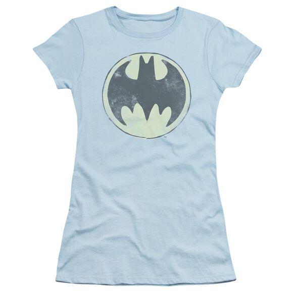 Batman Old Time Logo Short Sleeve Junior Sheer Light T-Shirt