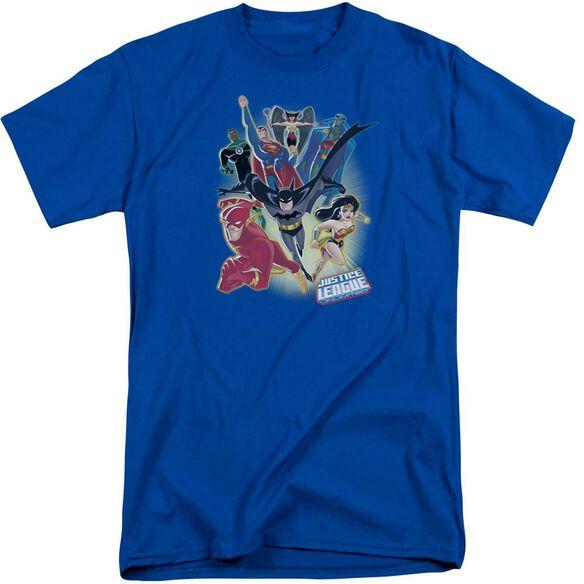 Jla Unlimited Short Sleeve Adult Tall Royal T-Shirt