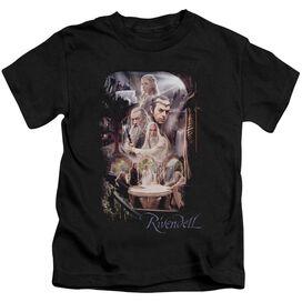 The Hobbit Rivendell Short Sleeve Juvenile Black T-Shirt