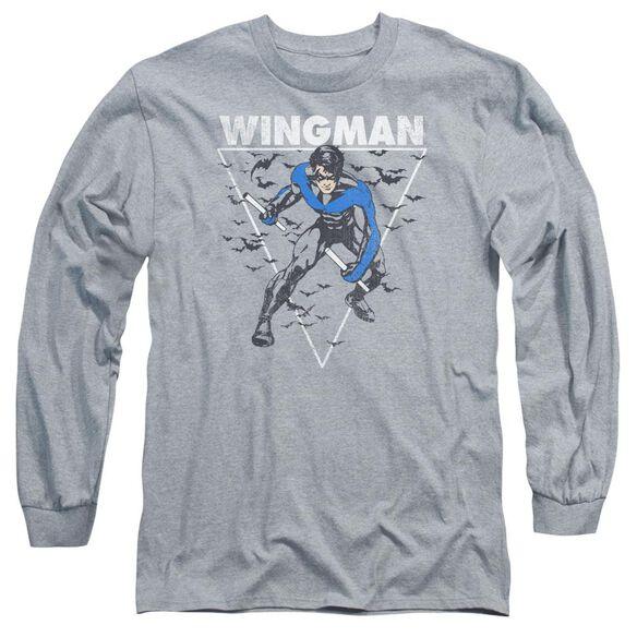 Batman Nightwingman Long Sleeve Adult Athletic T-Shirt