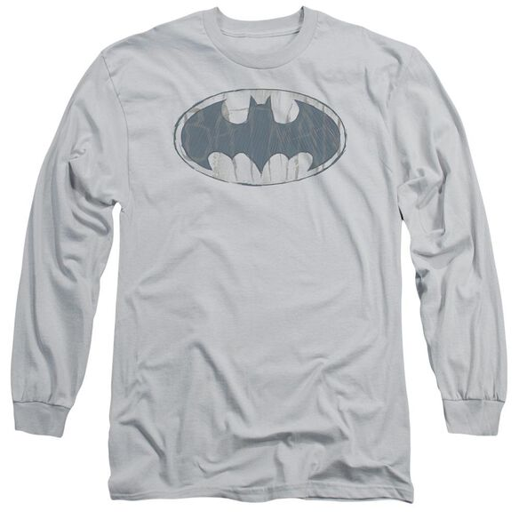 Batman Water Sketch Signal Long Sleeve Adult T-Shirt