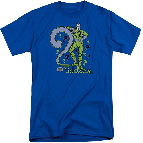 Dc The Riddler Short Sleeve Adult Tall Royal T-Shirt