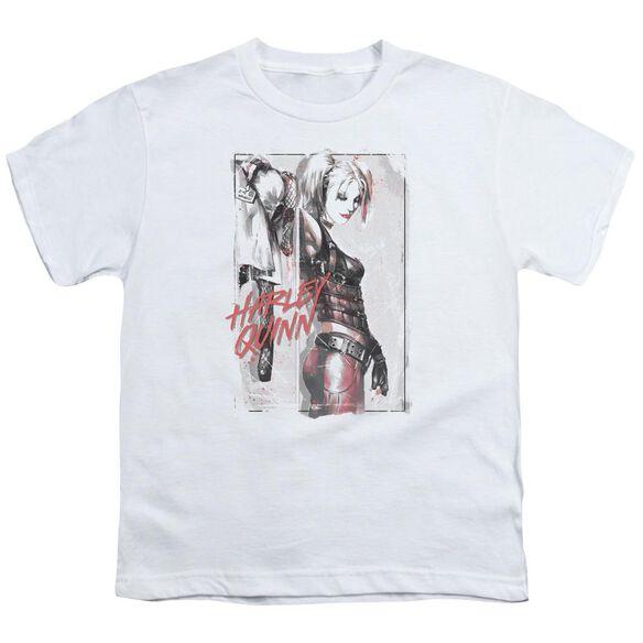 Batman Ink Wash Harley Short Sleeve Youth T-Shirt