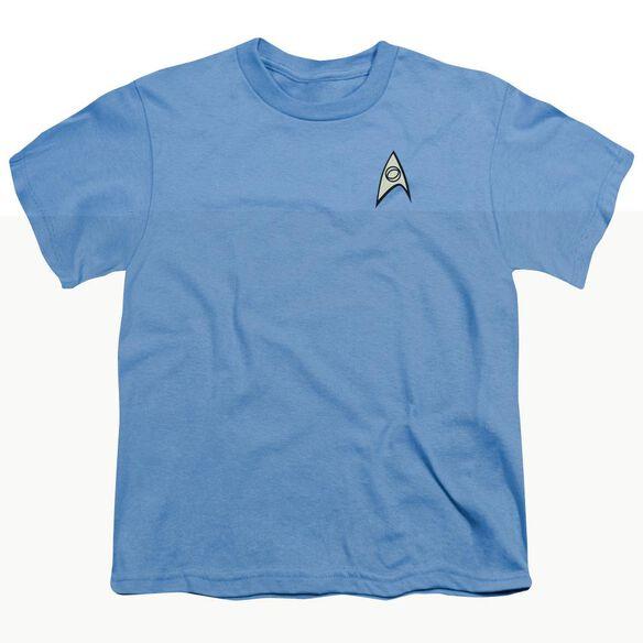 STAR TREK SCIENCE UNIFORM - S/S YOUTH 18/1 - CAROLINA BLUE T-Shirt