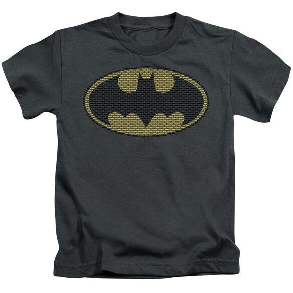 BATMAN LITTLE LOGOS - S/S JUVENILE 18/1 - CHARCOAL - T-Shirt