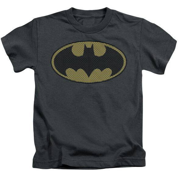 Batman Little Logos Short Sleeve Juvenile Charcoal T-Shirt