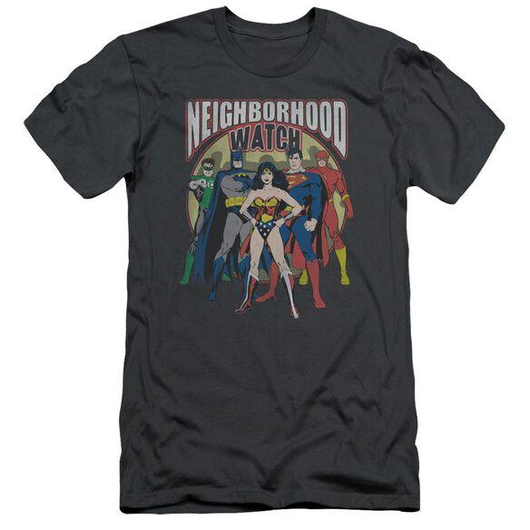 Jla Neighborhood Watch Short Sleeve Adult T-Shirt