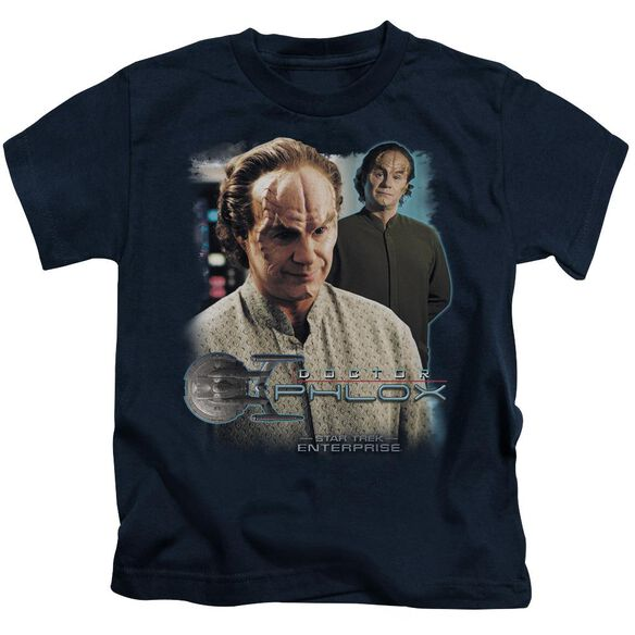 Star Trek Doctor Phlox Short Sleeve Juvenile Navy T-Shirt