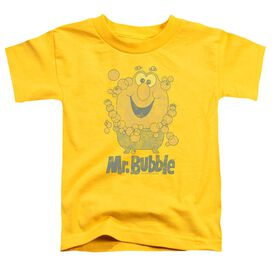 Mr Bubble Classy Classic Short Sleeve Toddler Tee Yellow T-Shirt
