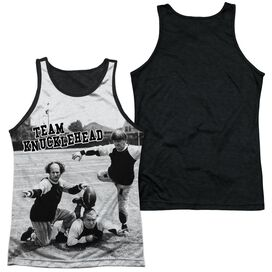 Three Stooges Team Knucklehead-adult Poly Tank Top