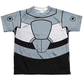 Teen Titans Go Cyborg Uniform Short Sleeve Youth Poly Crew T-Shirt