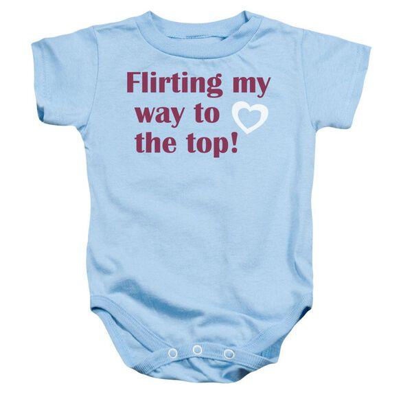 Flirting Infant Snapsuit Light Blue Lg
