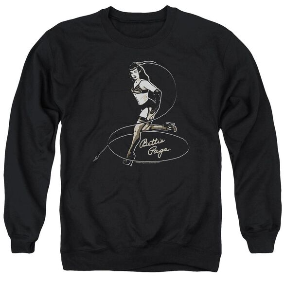 Bettie Page Whip It! Adult Crewneck Sweatshirt