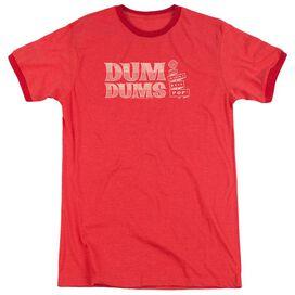 Dum Dums Worlds Best Adult Heather Ringer Red