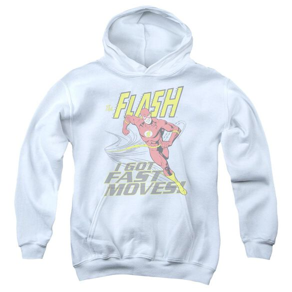 Dc Flash Fast Moves Youth Pull Over Hoodie