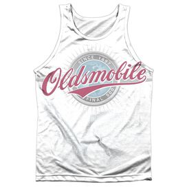 Oldsmobile Oversized And Faded Logo Adult Poly Tank Top