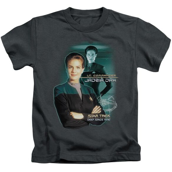 Star Trek Jadzia Dax Short Sleeve Juvenile Charcoal T-Shirt