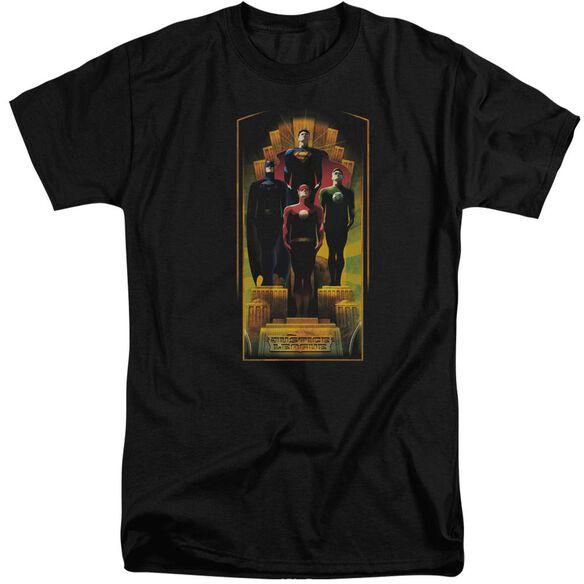 Jla Deco Short Sleeve Adult Tall T-Shirt