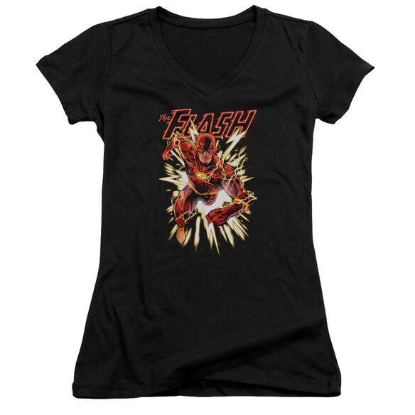 Jla Flash Glow Junior V Neck T-Shirt