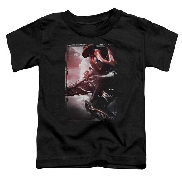 Power Rangers Red Zord Poster Short Sleeve Toddler Tee Black T-Shirt