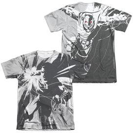 Batman V Superman Graphic Contrast (Front Back Print) Adult Poly Cotton Short Sleeve Tee T-Shirt
