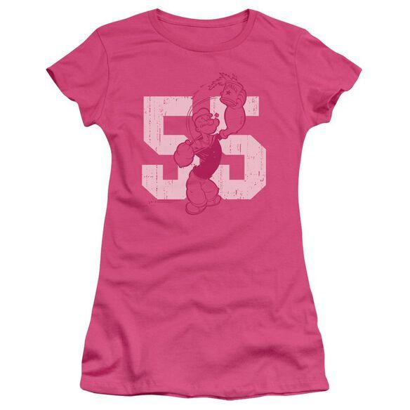 Popeye 55 Short Sleeve Junior Sheer Hot T-Shirt