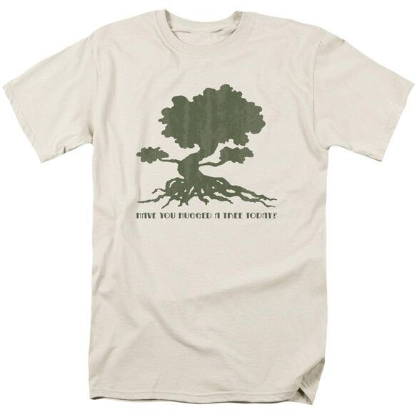 Tree Hugger Short Sleeve Adult Cream T-Shirt
