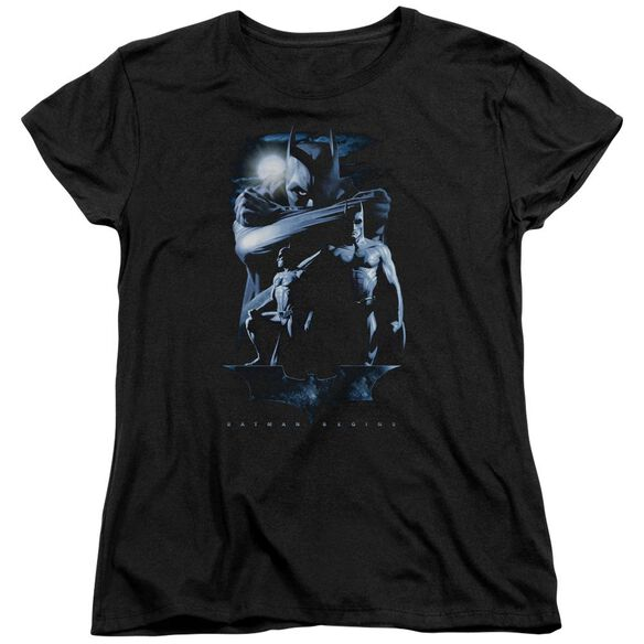 Batman Begins Forlorn Future Short Sleeve Womens Tee Black T-Shirt