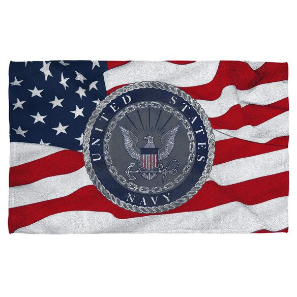 Navy Flag Seal Golf Towel W Grommet