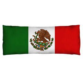 Mexico Flag Microfiber Body Pillow