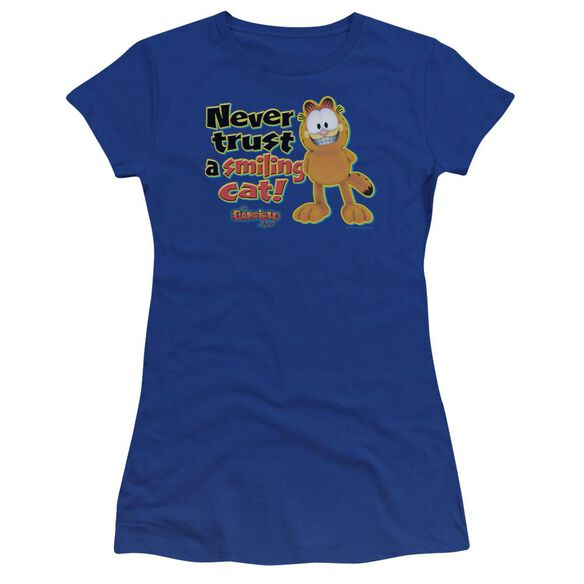 Garfield Smiling Premium Bella Junior Sheer Jersey Royal