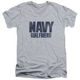 Navy Girlfriend Short Sleeve Adult V Neck Athletic T-Shirt